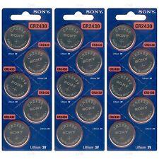 15 NEW SONY CR2430 3V Lithium Coin Battery Expire 2027 FRESHLY NEW - USA Seller