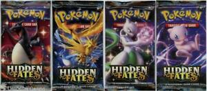 Pokemon TCG: Hidden Fates 4 Booster Packs - All Types - Brand New And Sealed!