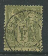 FRANCE 1876 PEACE + COMMERCE 1F VERY FINE USED in CHINA
