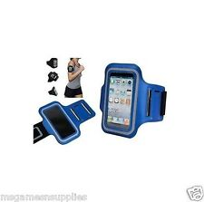 Armband BLUE iPhone 5 5G 5S 5C 6 6S Running Sports Gym & Screen Guard NEOPRENE