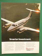 10/1988 PUB BEECHRAFT RAYTHEON BEECHJET KING AIR BUSINESS JET ORIGINAL AD