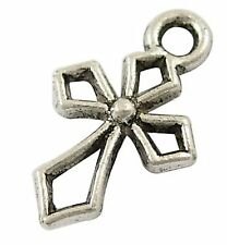 14g (Approx 30pcs) Tibetan Silver Colour Cross Charm