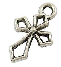 14g (Approx 30pcs) Tibetan Silver Colour Cross Charm