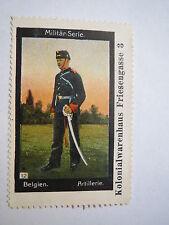 Belgien - Artillerie - Militär-Serie / Reklamemarke