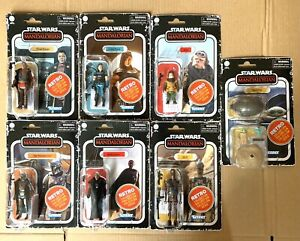 Star Wars Retro Collection. The Mandalorian. Set of 7 - Brand New
