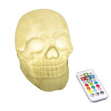 Night 3D Skull soft PVC Pat LED remote control 7 color change desk light lamp