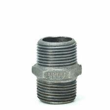 Temperguss-Gewindefitting schwarz Doppelnippel, AG x AG, Typ 280, DVGW - verschi