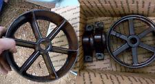 Two Cast Iron Vtg Wheels W/ Pillow Blocks?  -Steam Punk - Repurpose Project