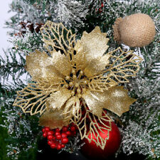 NE_ PW_ Christmas Hollow Flower Tree Glitter Hanging Ornament Xmas Window Decor