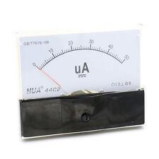 DC 0-50uA Scale Range Current Panel Meter Amperemeter Gauge 44C2