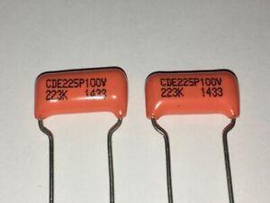"""Pair of """"Orange Drop"""" Capacitors 0.022µF for Gibson etc."""