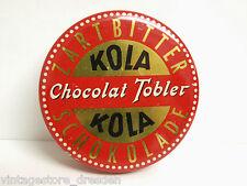 Blechdose Kola Chocolat Tobler Stuttgart Zartbitter Schokolade Dose