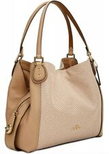 New COACH Legacy Jacquard Canvas  Edie 31 Shoulder Bag 28895 beechwood Gold tote