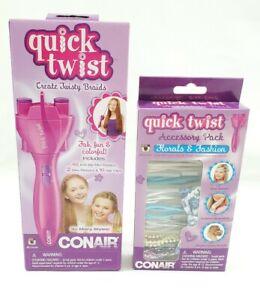 New ConAir Quick Twist Hair Styler CD205 Create Twisty Braids & 1 Accessory Pack