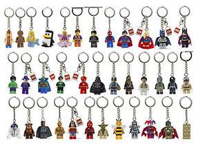 Lego Keyring Keychain Minifigures Star Wars Super Heroes Ninjago - Brand New