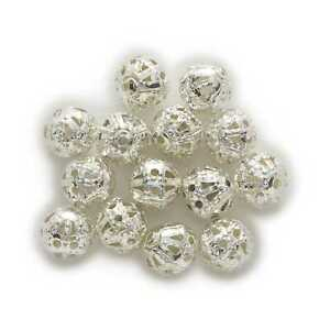 100Piece Silver Plated Hollow Flower Spacer Beads Findings Jewelry Making 4-10mm
