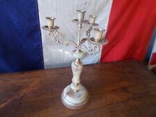 Decorative French Vintage 4 Arm Onyx Gold Candelabra Ref T21/45