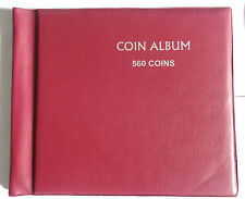 COIN ALBUM - CAPACITY 560 COINS - POCKET SIZE 47 MM / 47 MM - 1 BLANK ALBUM