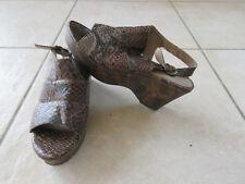 bellisima Sandaletten Damen Schlangenoptik Gr. 38 für Liebhaber und Sammler