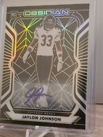 2020 Obsidian Jaylon Johnson Rookie Auto 10/25 Yellow Etch RC Chicago Bears 🔥