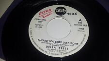 """DELLA REESE I Heard You Cried / On The South Side Of ABC 10962 SOUL PROMO 45 7"""""""