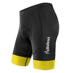 Didoo Mens Cycling Shorts Padded Bicycle Running Tight Lycra Compression Pants