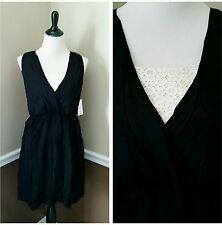 NWT Fleet Collection Modcloth Dress M Some May Say Black w Ivory Lace $69