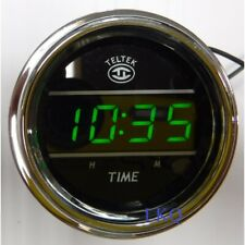 LCDCLOCK-BLK Lorry truck Stick On LCD Clock Black and Grey Finish