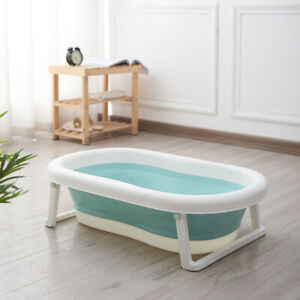 Newborn Toddler Baby Bath Tub Large Portable Foldable - Green