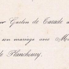 Gaston Augustin De Tarade De Corbeilles Loiret 1872 De Chavigny De Planchoury