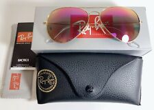 RAY BAN MIRROR AVIATOR WOMEN UNISEX Pink New 🇺🇸USA