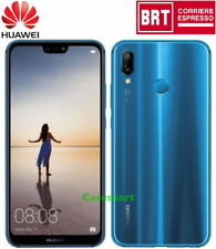 "Huawei P20 Lite 64GB Dual SIM 4GB RAM Smartphone Mobile Sbloccato 5.84"" Blu"
