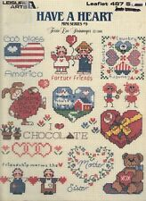 Counted Cross Stitch Patterns Have A Heart 27 Projects By Leisure Arts
