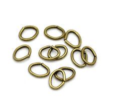100 Anneaux de jonction Ovale Bronze 5mm x  4mm ouvert creation bijoux, collier
