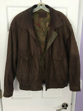 St John's Bay XL Tall Brown Genuine Leather Jacket soft insulated Clean smell