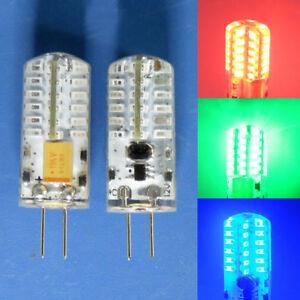 G4 GU4.0 LED bulb 12V 2W Red/Green/Blue/White 48-3014SMD light Silicone Lamp