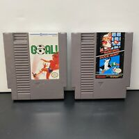 Goal! & Super Mario Bros/Duck Hunt Games NES Nintendo Games Cart Only-Tested