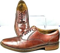 Cole Haan Grand.OS Madison Oxford Mens 8.5M Brown Leather Lace Up Plain Toe Shoe