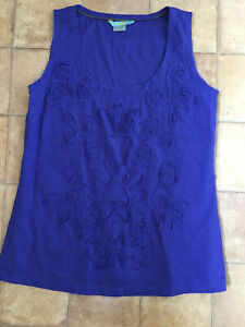 Boden Blue Top, Size 8, Very Good Condition