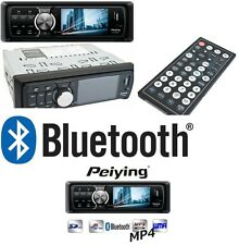 Autoradio Bluetooth USB SD AUX 4 x 35 W 1 DIN TFT Display MP3 MP4 Fernbedienung