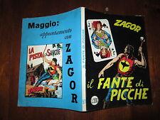 ZAGOR ZENITH NUMERO 97 IL FANTE DI PICCHE APRILE 1969 BONELLI EDITORE LIRE 200