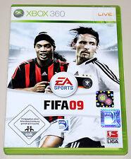 FIFA 09 - FÜR XBOX 360 - EA SPORTS FUSSBALL FOOTBALL SOCCER BUNDESLIGA 2009