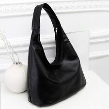 Women's Faux Leather Shoulder Bag Satchel Handbag Simple Tote Hobo Bags Elegant