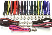 25mm Soft Cushioned Short Close Control Dog Training Lead Leash Various Colours