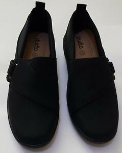 Studio Comfort Slip-On Trouser Shoes Black Work Smart Shoes UK Size 5 EU 38 new