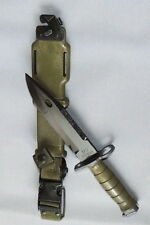 NEW Military M-9 Tri-Technologies Fighting Knife With Scabbard - SEALED IN BAG