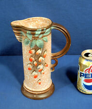 Rare Art Pottery Pitcher Tankard Art Deco Signd Etrurian Pottery Made in England