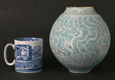 Peter Fraser Beard wax resist studio pottery vase