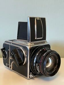 Hasselblad 500cm Camera with 80mm Carl Zeiss T* Lens and 120 Film Back