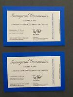 2021 Joe Biden & Kamala Harris Inauguration Ticket   Blue (set of 2)